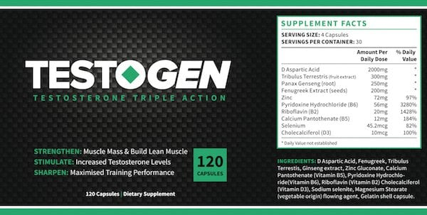 Testogen label