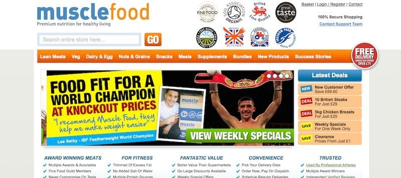 MuscleFood Discount Coupons