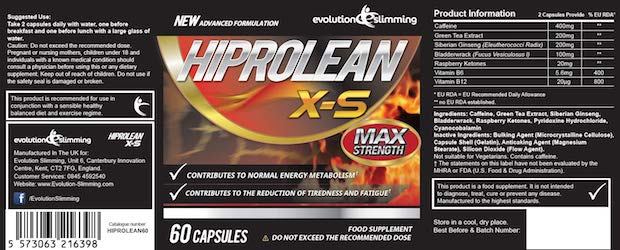 Hiprolean XS label