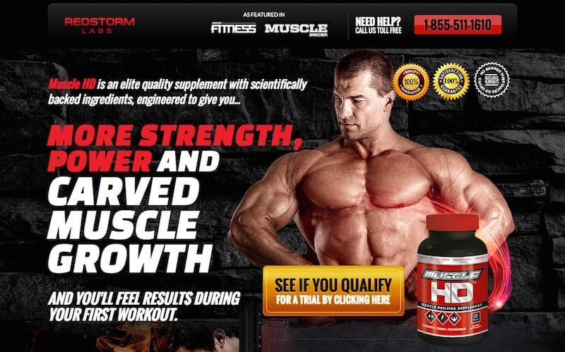 Redstorm Muscle HD Trial SCAM Report