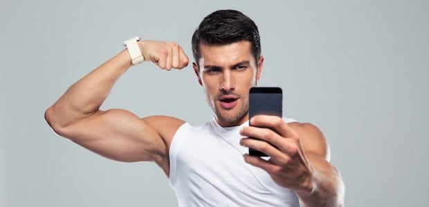 Taking selfies in the gym
