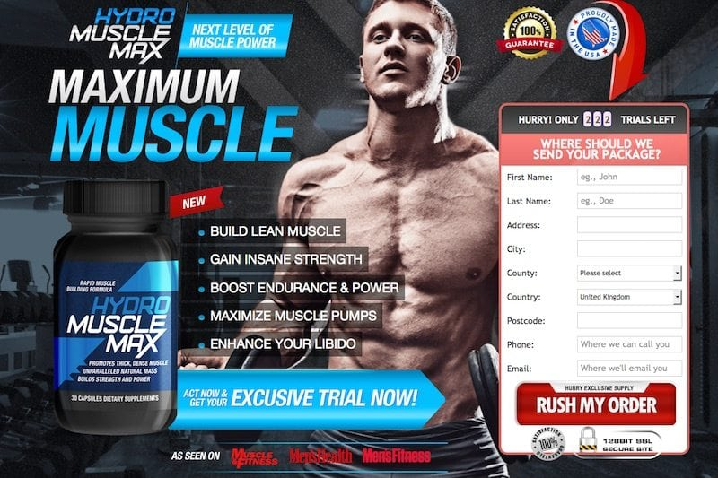 Hydro Muscle Max trial offer review – Is this offer a scam?