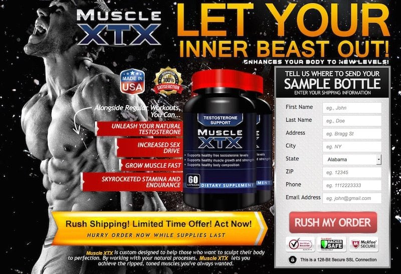 Muscle XTX Review – Is this trial offer a scam?