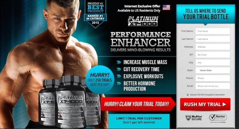 Platinum XT-1000 Testosterone Booster Review – Is the trial a scam?