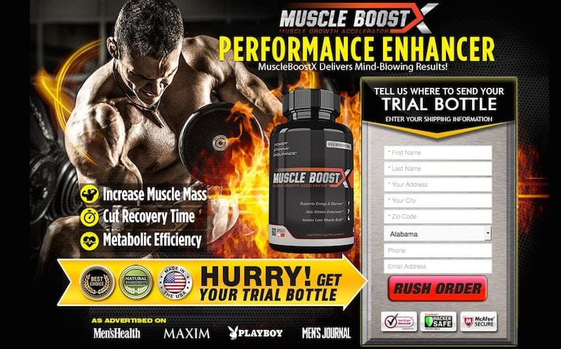 Muscle Boost X Trial Offer Review – Is it a scam?