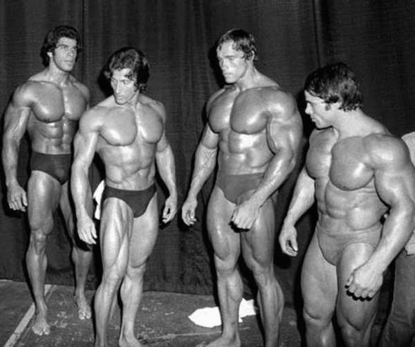 Backstage at The Mr. Olympia