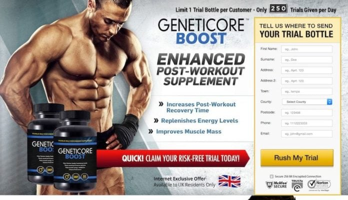 Geneticore Boost Trial Offer Review - Is this offer a scam?