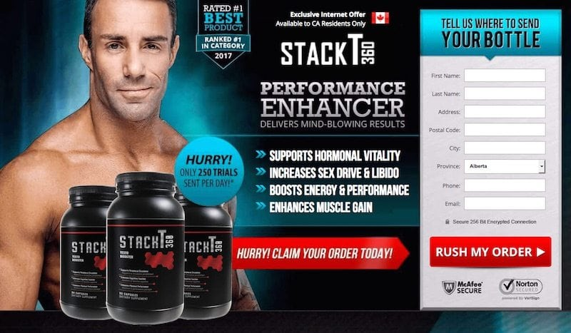 StackT360 Trial Offer Review: Is this testosterone booster a scam?