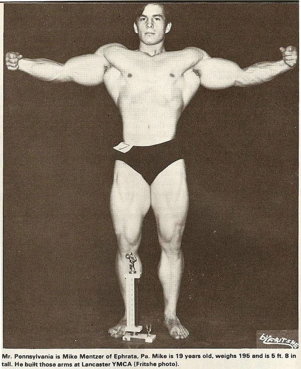 A young Mike Mentzer