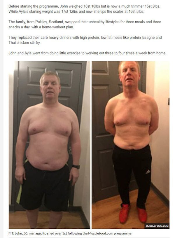 John's Weight Loss